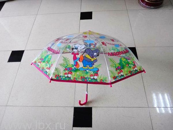 Зонт детский прозрачный Леопольд, Играем вместе