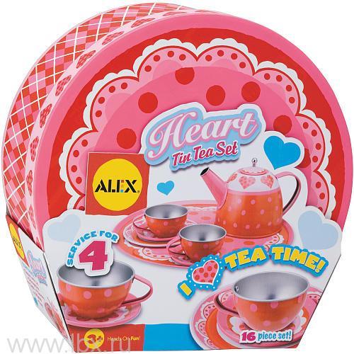 Чайный набор `Сердце` в чемоданчике, Alex (Алекс)