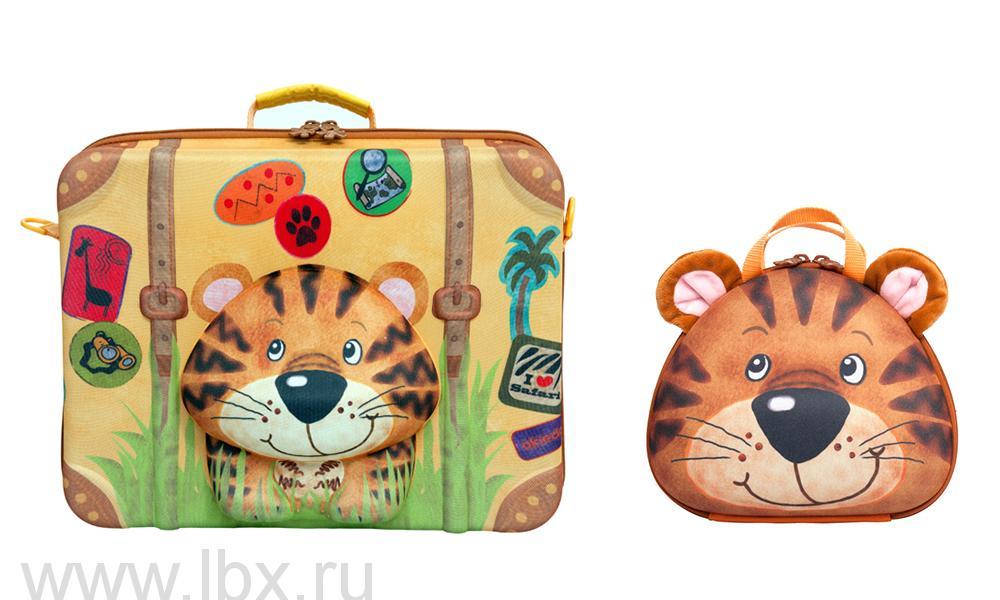 Чемодан `Тигренок` и сумочка, Okiedog (Окидог)