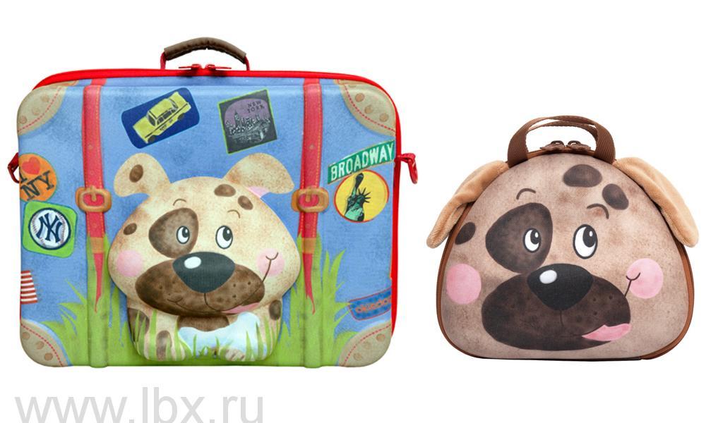 Чемодан  `Собачка` и сумочка, Okiedog (Окидог)