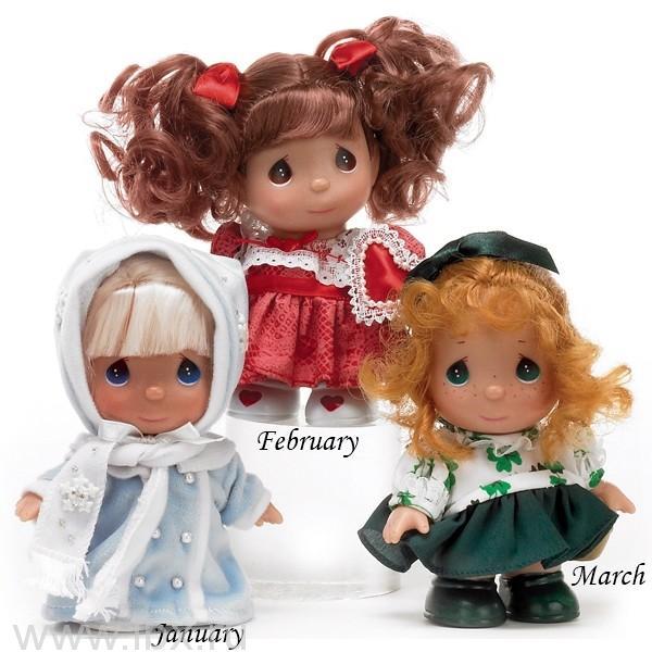Кукла `Январь` (January) 13см, Precious Moments(Драгоценные Моменты)