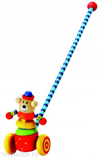 Игрушка-каталка `Медведь`, Bino (Бино)