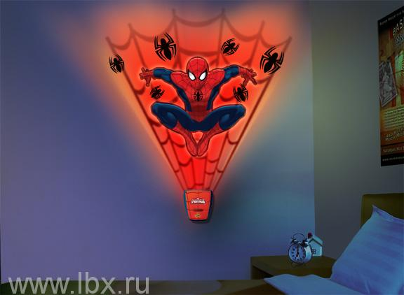 Интерактивный настенный проектор `Человек-паук: Паутина` Uncle Milton (Анкл Милтон)