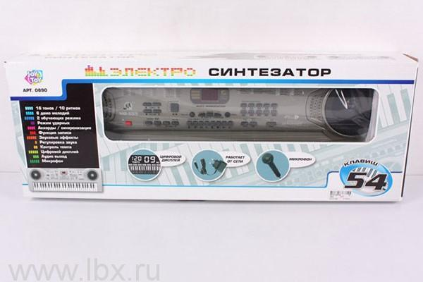 Электросинтезатор c микрофоном, Joy Toy
