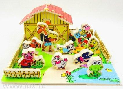Игра с объемными фигурками Ферма, Топ Брайт