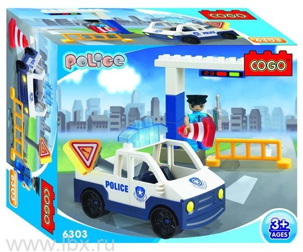 Конструктор для малышей `Полиция. Дорожная служба`, Cogo