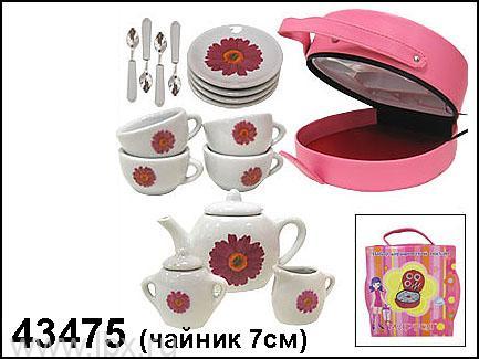 Набор керамической посудки `Цветочный пикник` Маруся
