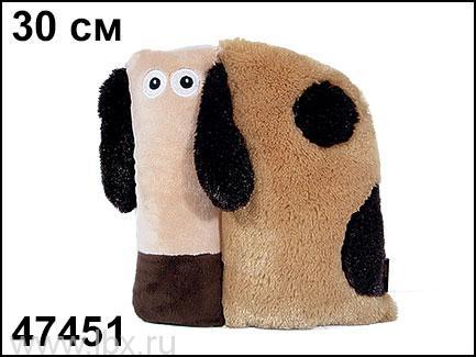 Мягкая игрушка-подушка `Пес` 30 см, Пуффи