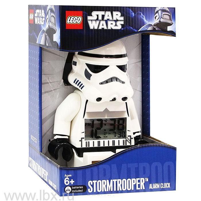 Будильник Star Wars, минифигура Stormtrooper, Lego (Лего)