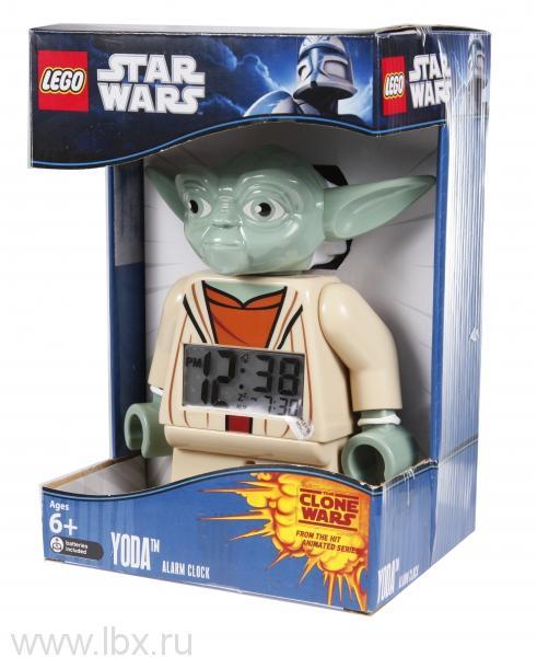 Будильник Star Wars, минифигура Yoda, Lego (Лего)
