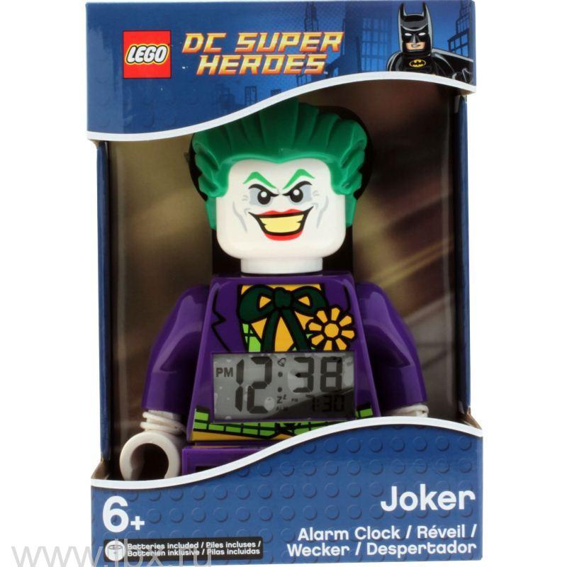 Будильник Super Heroes, минифигура Joker, Lego (Лего)