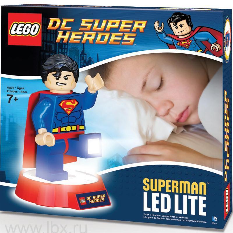 Фонарик-ночник Superman, Lego Super Heroes (Лего Супер герои)