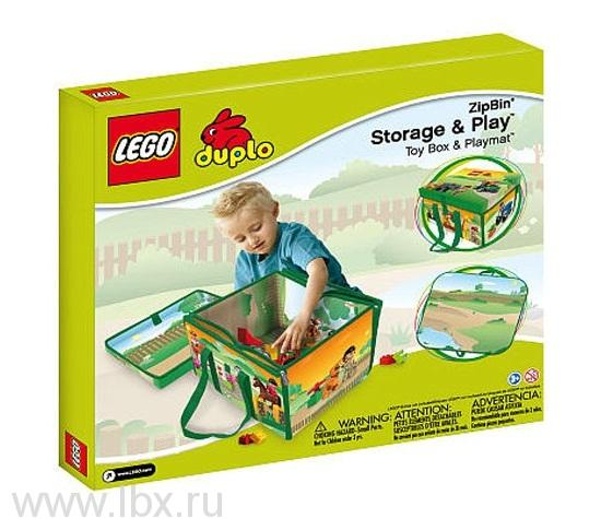 Игровой коврик-коробка ЗипБин, Lego Duplo (Лего Дупло)