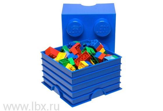 Ящик голубой для хранения игрушек Lego (Лего)