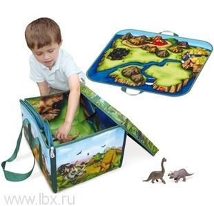 Игровой набор ЗипБин Динозавр: коробка-коврик 2 игрушкиNeat - Oh (Нит Ох)