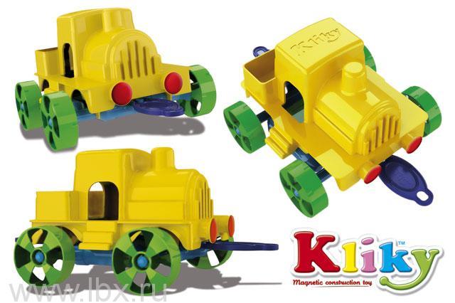 Магнитный конструктор `Kliky Cubiс Go Train` Plastwood (Пластвуд)