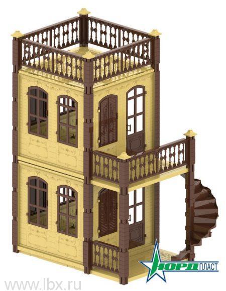Домик для кукол Замок Принцессы бежевый, Нордпласт