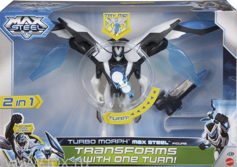 Турбо-трансформер 2 в 1 Max Steel, Mattel (Маттел)