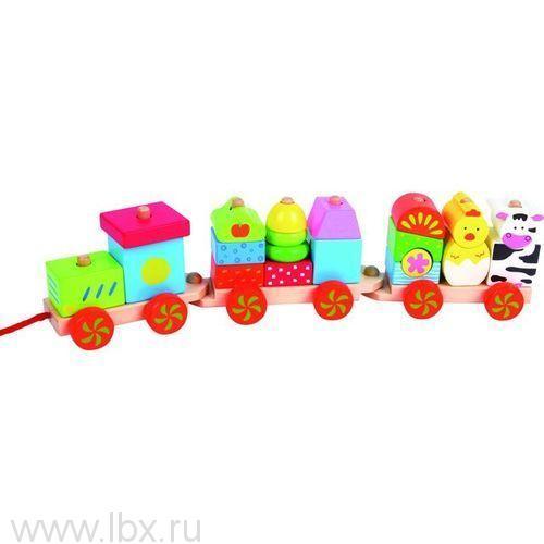 Развивающая игрушка `Поезд с животными` Kiddieland (Кидди лэнд)