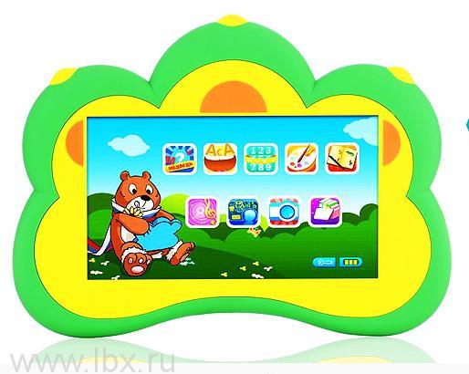 Переносной планшетный компьютер Oprix `Медвежонок` синий, 4 гб памяти