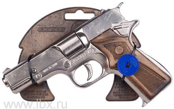 Полицейский пистолет на 8 пистонов, металл Gonher (Гонхер)