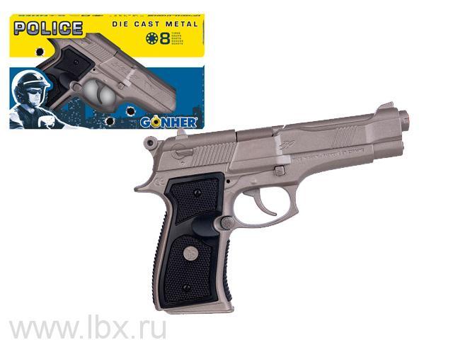 Револьвер Police 8 пистонов (металл) Gonher (Гонхер)