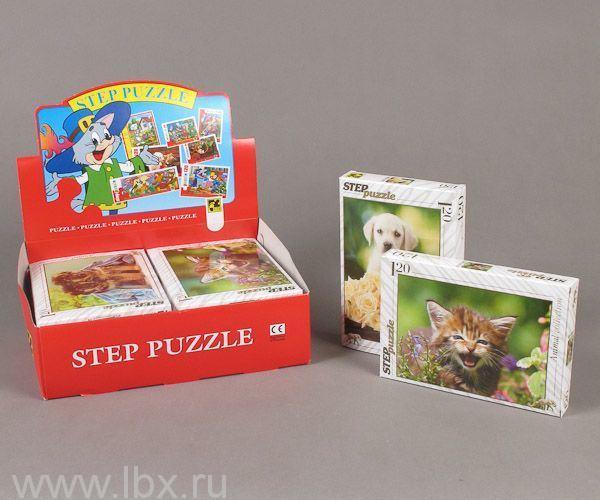 Пазл `Золотая серия-9` Животные 120 деталей, Step puzzle (Степ Пазл)
