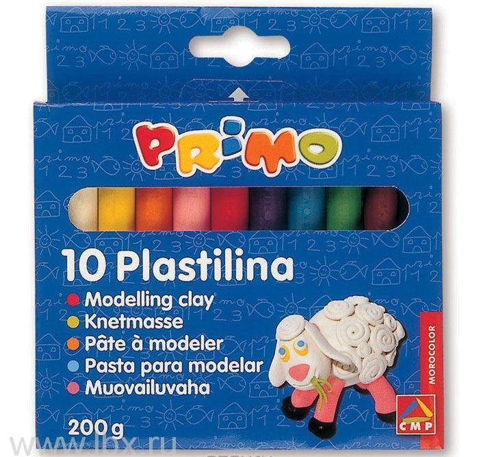 Пластилин 10 цветов по 20гр, Morocolor Primo (Примо)