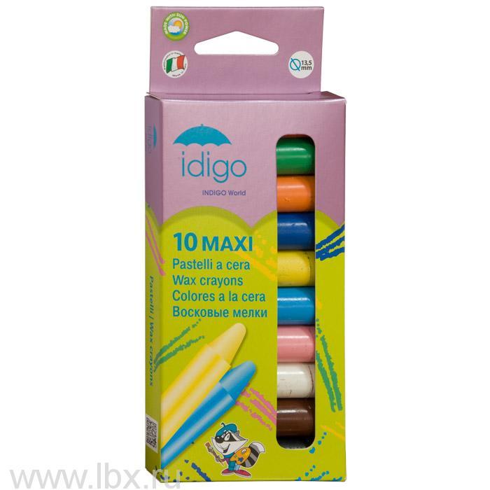 Восковые мелки на пчелином воске MAXI утолщенные детские, Idigo (Идиго)