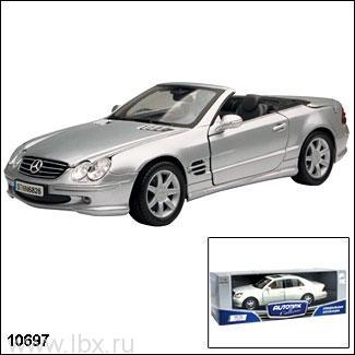 Модель автомобиля `Mercedes-Benz SL500` 1:18, Autotime