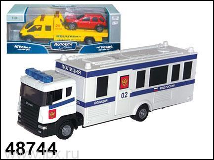 Модель полицейского автомобиля `Scania Command Unit` 1:48, Autotime