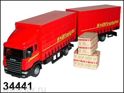 Модель автомобиля `Scania` автопоезд 1:48, Autotime