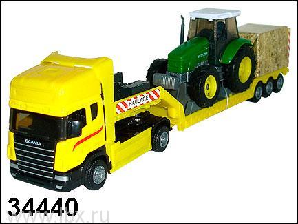 Модель автомобиля `Scania` с трактором 1:48, Autotime