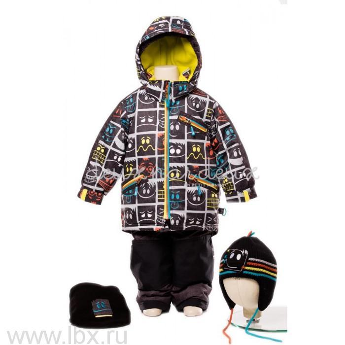 Костюм для мальчика (куртка, полукомбинезон, шарф, манишка) Deux par deux (Дю пар Дю)- увеличить фото