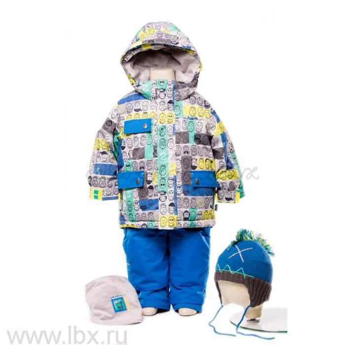 Костюм для мальчика (куртка, полукомбинезон, манишка) Deux par deux (Дю пар Дю)