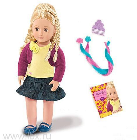 Кукла делюкс Фиби (Phoebe) с растущими волосами, Battat (Баттат)