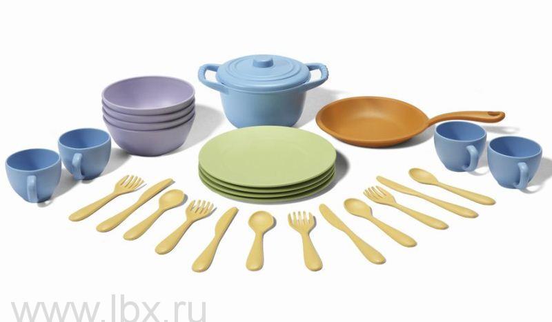Набор кухонной и столовой посуды 27 предметов, Green Toys (Грин Тойс)