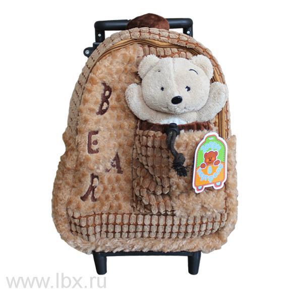 Рюкзак мягкий и игрушка `Мишка`, Звери в портфеле