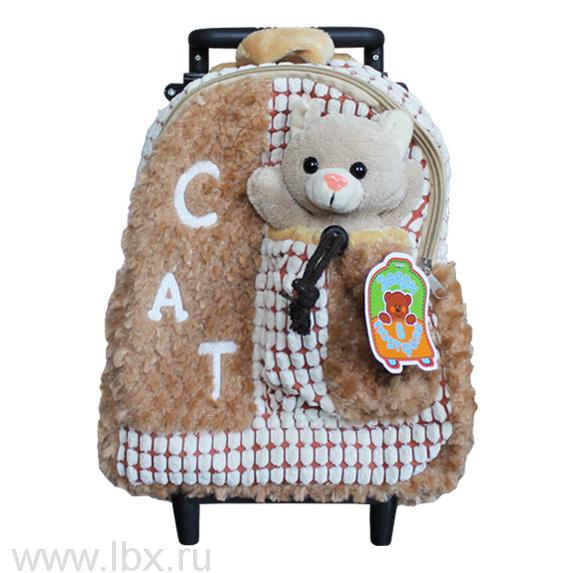 Рюкзак мягкий и игрушка `Киска`, Звери в портфеле