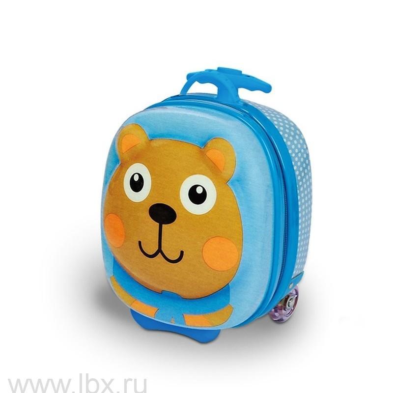 Чемодан на колесах детский `Медведь` Oops (Упс)- увеличить фото