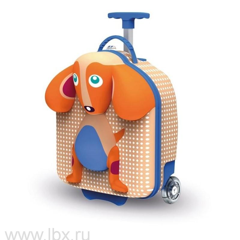 Чемодан на колесах детский `Собака` Oops (Упс)