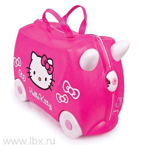 Чемодан на колесиках розовый Hello Kitty (Хэлло Китти), Trunki (Транки)
