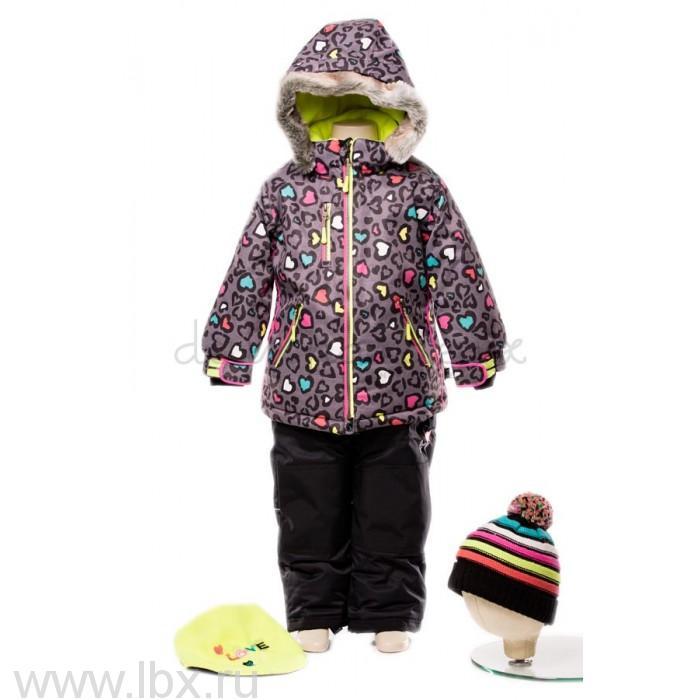 Костюм для девочки (куртка, полукомбинезон, манишка) Deux par deux (Дю пар Дю)- увеличить фото