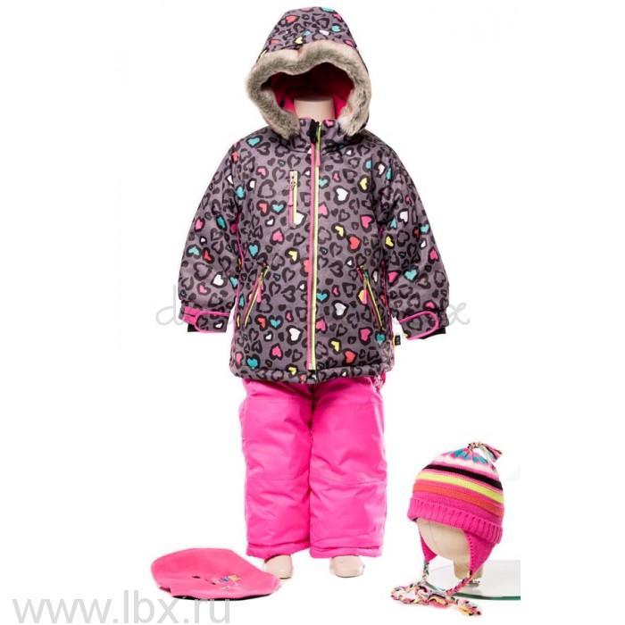 Костюм для девочки (куртка, полукомбинезон, манишка) Deux par deux (Дю пар Дю)