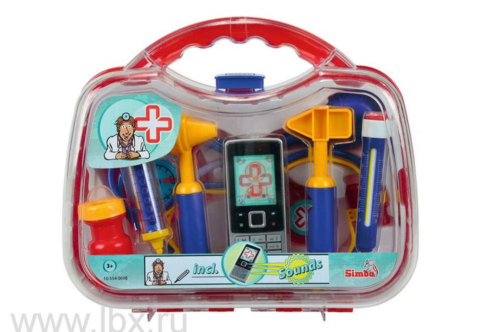 Набор доктора в пластиковом чемоданеSimba (Симба)