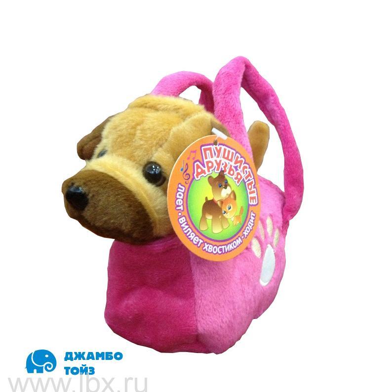 Собачка мягкая интерактивная `Пушистые друзья`,  Jumbo Toys (Джамбо Тойз)