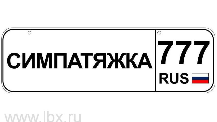 Номер для детского транспорта `Симпатяжка` регион Москва, Baby nomer (Бэби номер)