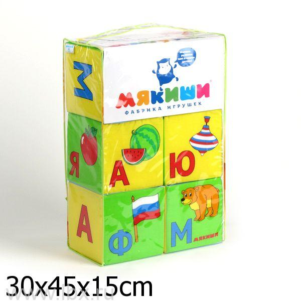 Набор из 6 кубиков `Мякиши` (Умная Азбука)