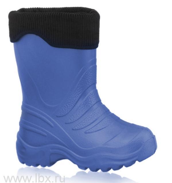 Cапожки резиновые EVA с утеплителем, Lemigo (Лемиго) светло-синие