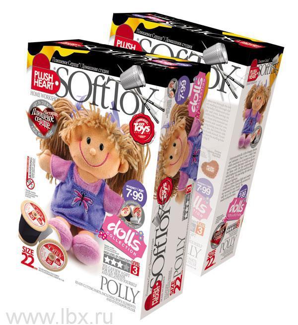 Набор для шитья `Кукла Полинка`, Plush Heart (Плюшевое сердце)